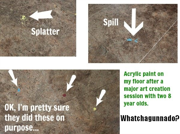 How To Remove Spills Of Acrylic Paint