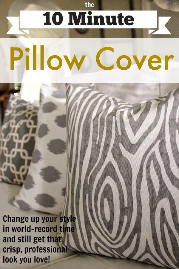 the 10 minute diy pillow cover | the creek line house Diy Pillow Covers