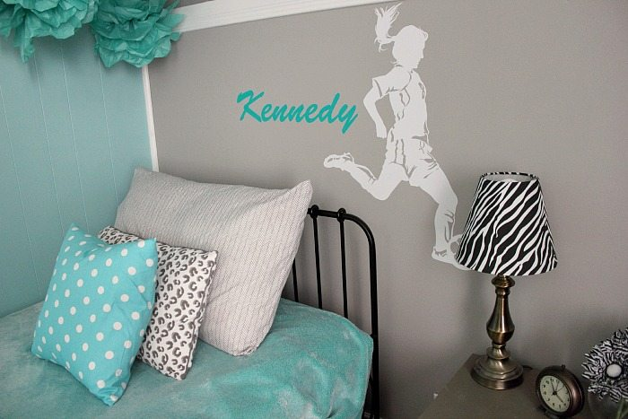 Turquoise And Grey Tween Bedroom A Before After The