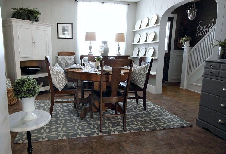 Love This Cute Grey And White Cottage Dining Room Great Before After