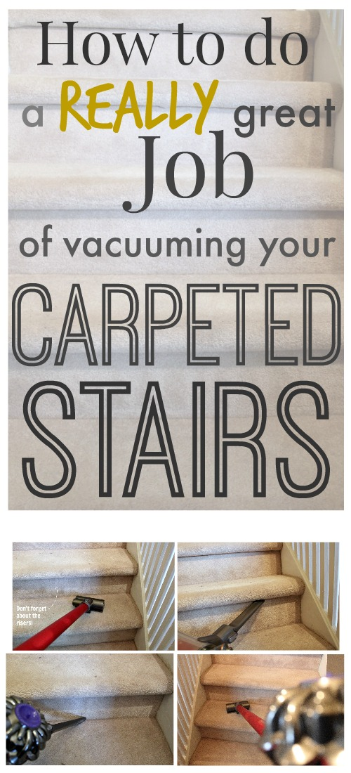 How to Vacuum Stairs! | The Creek Line House