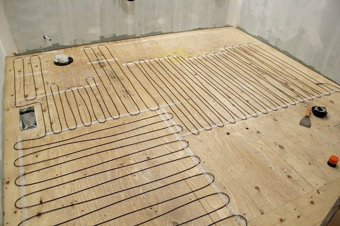 installing heated floor in bathroom how to install a heated tile floor and also how not to 23553