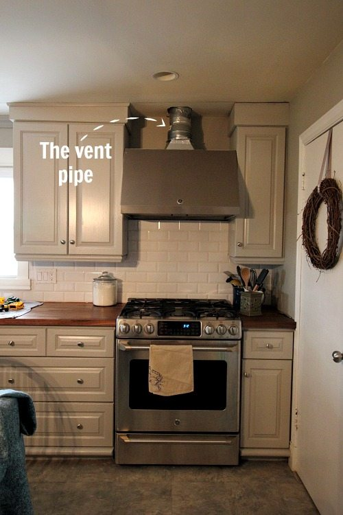 How To Diy A Range Hood Vent Pipe Cover Something Like This Is Especially Useful